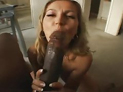 Horny housewife sucks black cock to get him off tubes