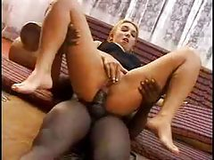 Latina girl is into black cock in the ass tubes