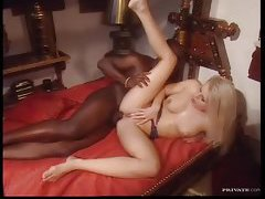 Interracial anal with a glamorous blonde tubes