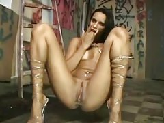 Latin girl fingers her hole and pisses hard tubes