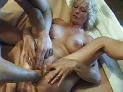 Wet mature pussy slowly fisted open tubes