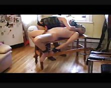 Mistress teases her man in a gas mask tubes