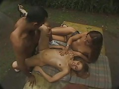 Trannies lust after his cock outdoors tubes