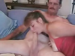 Tattooed amateur wife rides her hubby tubes