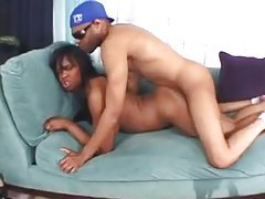 Hard black fucking with squirter and a facial tubes