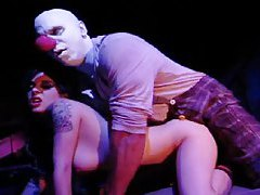 Man in clown makeup fucks a babe tubes