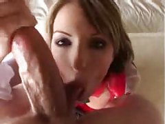 She gets on her knees and blows him tubes