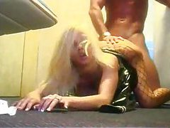 Latex flight attendant fucked in her snatch tubes