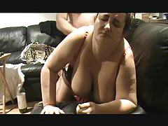 Fatty in sexy lingerie fucked from behind tubes