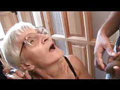 Granny threesome with toothless slut tubes