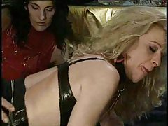Kinky threesome with leather sluts tubes