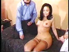 Attractive gal ends up in a gangbang tubes