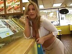She goes to Subway and models tits tubes