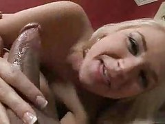 His cock gets wet with spit during BJ tubes