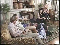 Group party in elegant house with cumshots and fucking tubes