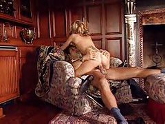 Blonde with snake tattoo on her back gets fucked tubes