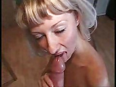 Gangbang whore loves cum in her ass tubes