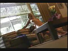 Skinny blonde is fucked hard and moans loudly tubes