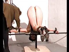 A rough and true caning is painful tubes