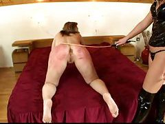 Incredible caning makes her ass red with pain tubes