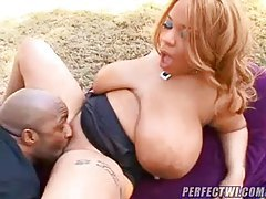 Huge black slut boned doggystyle outdoors tubes