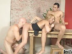 Hot blonde tranny with feminine body anally fucked tubes