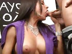 Incredible BJ from big tits brunette milf tubes