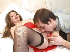 Russian milf wants him to lick her ass tubes