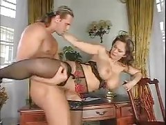 Sexy big boobs slut takes load on her tits tubes