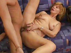 Hairy mature is full of young cock tubes