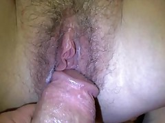 Big dick bangs a hairy hole missionary style tubes