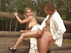 Sex outdoors with the laundry girl tubes