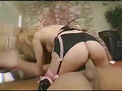 Dirty girl in sexy stockings fingers her ass tubes