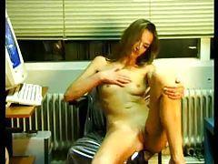 Skinny masturbating hottie with small tits tubes