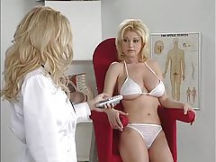 Hot doctor and her patient have big tits and look hot tubes