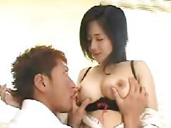Cute Japanese teacher gives student a titjob tubes
