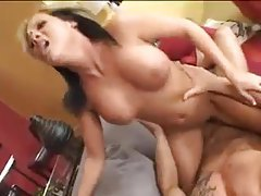 He cums on her tits after aggressive sex tubes