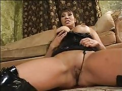 Ava Devine in shiny latex hardcore sex tubes