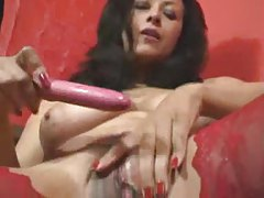 Dress comes off and curvy girl toys tubes