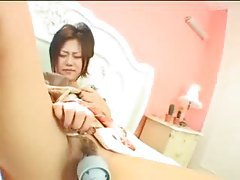 Munching on a sexy Japanese pussy tubes