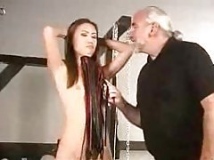 Skinny girl abused by older master tubes