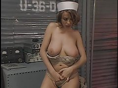 Big natural tits on solo girl as she teases tubes