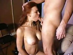 Redhead with big breasts is irresistible tubes