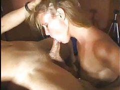 Amateur sucks his dick as he grabs her hair tubes