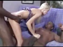 Young and cute and fucked by two black dicks tube