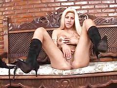 Shemale with fake tits solo erotic tease tubes