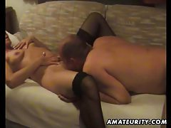 Mature amateur wife homemade blowjob and fuck with cumshot tubes