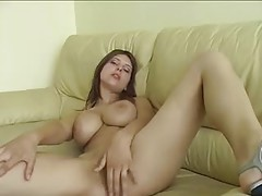 A perfect natural boobs girl fucked in POV tubes