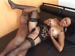 Brazilian wears black lingerie and has incredible sex tubes