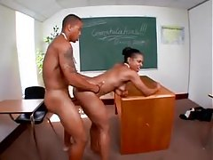 Hot teacher fucked by her young black student tubes